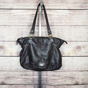 The Sak Chocolate Brown Leather Shoulder Bag